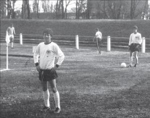 """Zwischen 1973 – 1978 nahm Jörg """"Bauer"""" Schwarz an zusammen mit Spielern wie Armin Veh (rechts auf dem Bild),, Roland Dickgießer, Michael Blättel oder Eike Immel zu Sichtungslehrgängen des DFB eingeladen."""