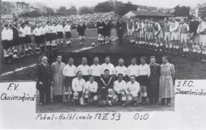 Pokal-Halbfinale gegen FCS 1953