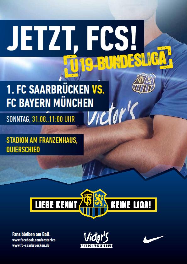 U19 Bundesliga 1. Spieltag FCS - FC Bayern München