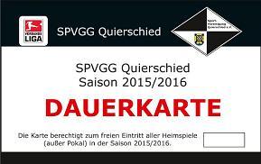Spvgg Dauerkarte 2015/2016