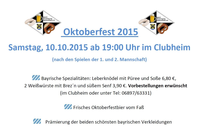 Oktoberfest 2015 Plakat