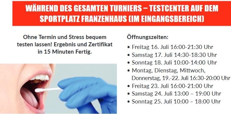 Testcenter Oeffnungszeiten